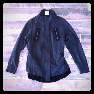 Cabi gray black mesh back jacket M